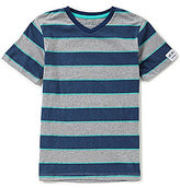Buffalo David Bitton Big Boys 8-20 Kawan V-Neck Striped Short-Sleeve Tee