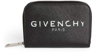 Givenchy Leather Logo Zip Wallet