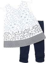 Petit Lem Baby Girl's Origami Flowers Tunic and Leggings Set, Sizes 12-24M (18M)