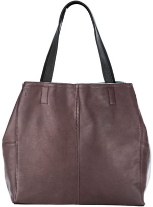 Taylor Yates Mary Tote In Plum