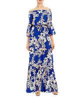 Eliza J Off-The-Shoulder Bell Sleeve Maxi Dress