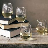 Cathy's Concepts Cathys concepts 4-pc. Colony of Bats Stemless Wine Glass Set