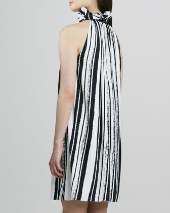 Rachel Zoe Muse Striped Ruffle-Halter Dress