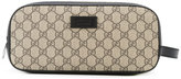 Gucci GG Supreme toiletry case - women - Calf Leather - One Size