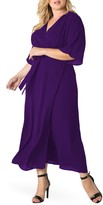 Standards & Practices Short Sleeve Wrap Maxi Dress