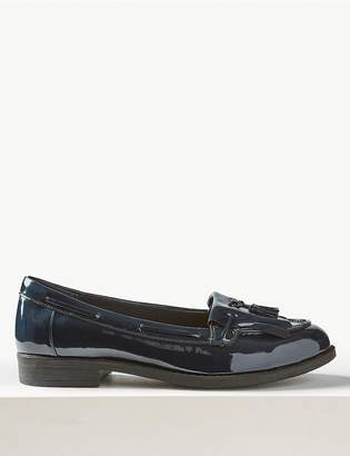 M&S CollectionMarks and Spencer Wide Fit Patent Tassel Loafers