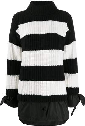 Moncler striped layered jumper