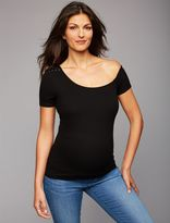 A Pea in the Pod Splendid Lace Shoulder Maternity Top