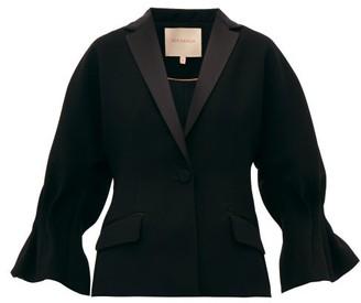 Roksanda Lora Cady Single-breasted Crepe Blazer - Womens - Black