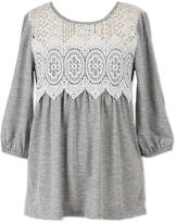 Speechless Lace Detail Tunic Top - Girls' 7-16