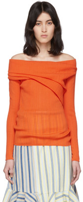 Nina Ricci Orange Pleated Sweater