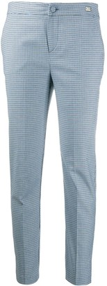 Be Blumarine Checkered Tailored Trousers