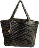 Leather Country Reversible Woven Tote