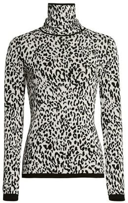 Victor Glemaud Leopard-Print Merino Wool Turtleneck