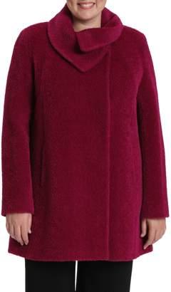 Cinzia Rocca Toni Plus Plus Alpaca Wool A-Line Coat