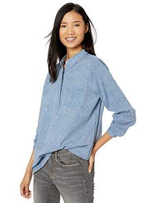 Goodthreads Washed Cotton Popover Tunic Shirt,S