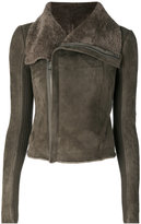 Rick Owens classic biker jacket - women - Polyester/Cupro/Cashmere/Ram Leather - 38