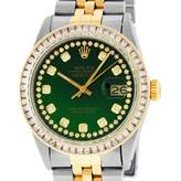 Vintage Rolex Datejust 36mm Green gold and steel Watches