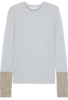 Duffy Two-tone Cashmere Top