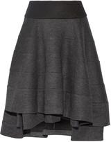 Co Tiered wool-blend skirt