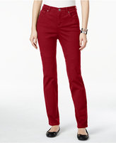 Style&Co. Style & Co. Petite Tummy-Control Straight-Leg Jeans, Only at Macy's
