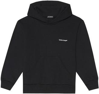 Balenciaga Kids Kids' cotton hoodie