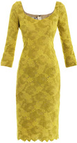 L'Wren Scott Chartreuse lace dress