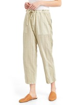 Gap Linen mix-stripe crop pants