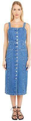AllSaints Elsie Denim Dress (Indigo Blue) Women's Clothing