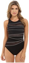 Miraclesuit Network Piped High Neck One-Piece