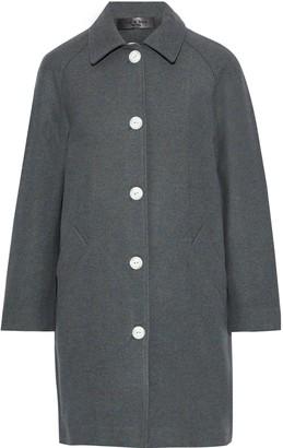 Rag & Bone Gemma Snap-detailed Marled Wool-blend Felt Coat