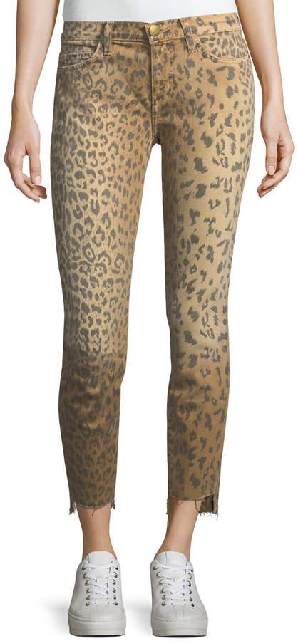 Current/Elliott The Stiletto Animal-Print Skinny Jeans