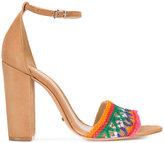 Schutz ankle length sandals - women - Cotton/Leather - 7.5