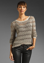 Alice + Olivia Brenna Crochet Crewneck Sweater