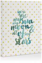 DENY Designs Hello Sayang You Are My Sun My Moon And All Of My Stars Canvas, 16 x 20