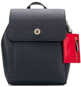 Tommy Hilfiger logo colour-block backpack