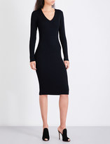 MICHAEL Michael Kors V-neck fitted ribbed-knit dress