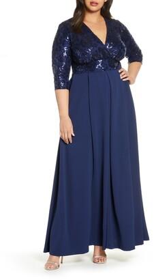 Kiyonna Paris Sequin Bodice Gown