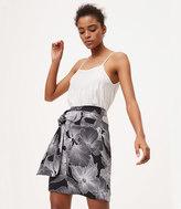 LOFT Petite Hibiscus Tie Skirt