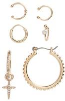 Topshop Women's Set Of 6 Cross Mix Earrings