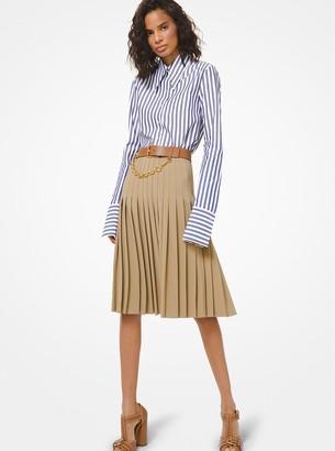 Michael Kors Wool Serge Pleated Skirt