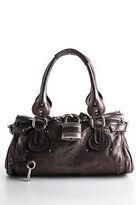 Chloé Gray Metallic Leather Paddington Satchel Handbag BY4865CHL MHL