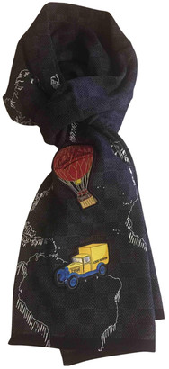 Louis Vuitton Anthracite Wool Scarves & pocket squares