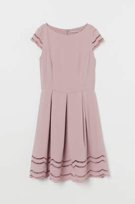 H&M Cap-sleeved Dress - Pink