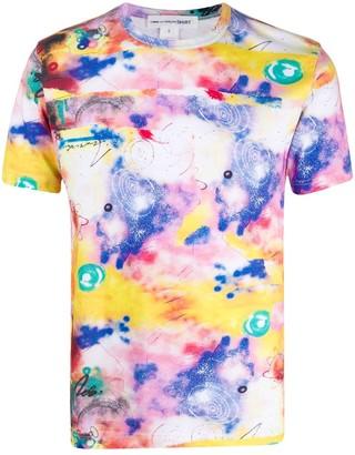 Comme des Garçons Shirt abstract-print crew neck T-Shirt