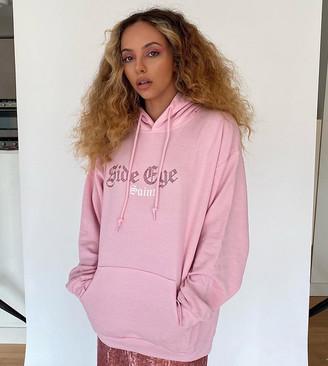 Skinnydip Curve x Jade Thirlwall relaxed hoodie with side eye diamante hoodie
