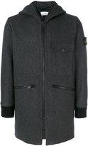Stone Island zipped coat - men - Polyamide/Wool - S