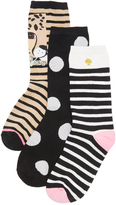 Kate Spade Cheetah 3 Pack Sock Set