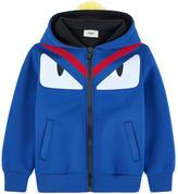 Fendi Monster neoprene hoodie