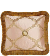 "Sweet Dreams Versailles Reversible Pillow with Fringe, 15"" x 14"""
